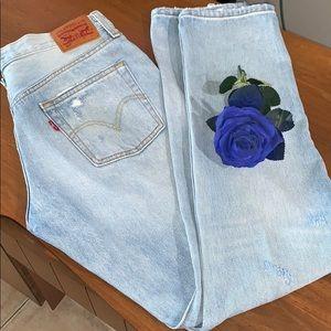 vintage 90s Levi's 501 jeans  stone -wash